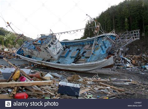 a fishing boat washed ashore during the tsunami otsuchi - Fishing Boat Washed Ashore