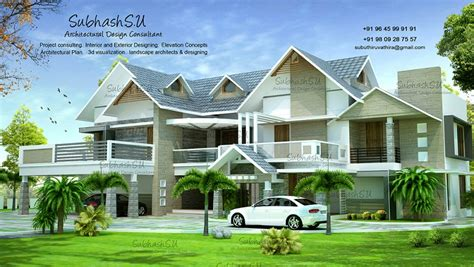 sq ft contemporary double floor home designs