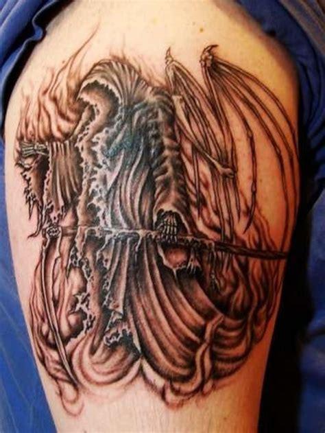 tattoo reaper pictures 29 cool grim reaper tattoo designs
