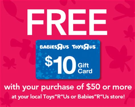 Where Can You Buy Toys R Us Gift Cards - 10 toys r us gift card with 50 purchase coupon crazy girl