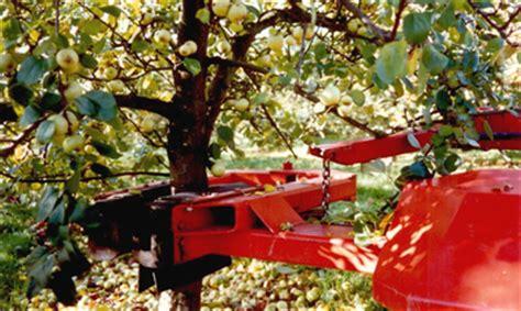 fruit tree shaker tuthill temperley apple harvesting equipment