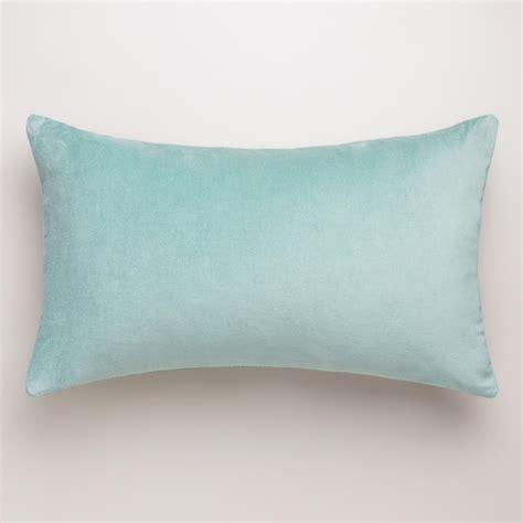 blue surf velvet lumbar pillow world market