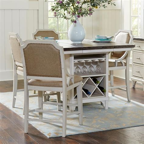 Kitchen Island Table Sets Avalon Furniture Mystic Cay 5 Kitchen Island Table Set Zak S Furniture Pub Table