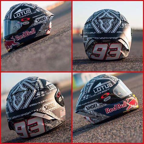 design helm marquez shoei x spirit iii aftermarket accessories