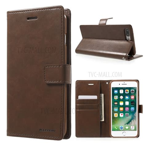Mercury Bluemoon For Iphone 7 Brown mercury goospery blue moon magnetic leather wallet