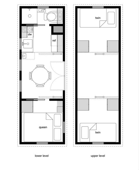 house plans with floor beds from tinyhousedesign