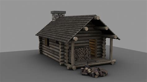 Simple Cabin Floor Plans by Portfolio Piece Lumberjack S Cabin Polycount