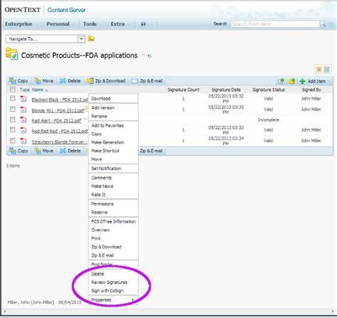 opentext workflow opentext cs for docusign signature appliance docusign