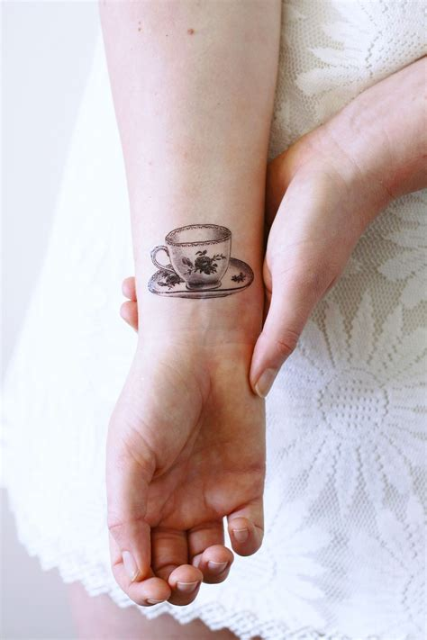 small vintage tattoos small teacup temporary discover more ideas about