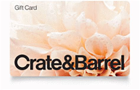 Crate And Barrel Register Gift Card - gift cards buy online and check balance crate and barrel