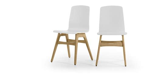 white and oak dining chairs 2 x dante dining chair oak and white made