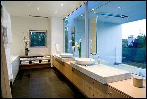 cool home interior designs photos bathroom view in simple rectangular shape house