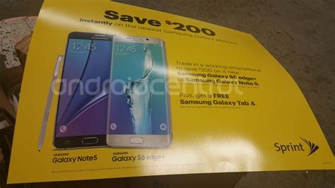 Samsung S6 Dan Note 5 Sprint S 200 Trade In Offer Expanding To Samsung Galaxy