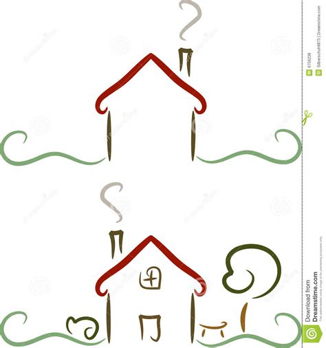 house drawing stock images royalty free images vectors simple house logo illustration stock vector image 6756238
