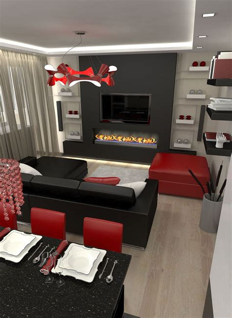 black and red home decor black and red living room home decor ideas red home design