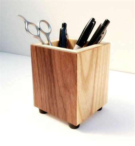 Wooden Desk Accessories Wooden Pencil Holder Pen Cup Wood Desk Accessory Pen Holder Pencil Cup Made From Recycled
