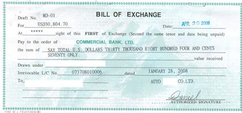 Credit Information Exchange Format Update 67537 Bill Of Exchange Sle 30 Documents