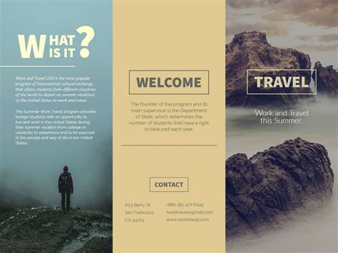Free Brochure Templates Brickhost Page 113 Free Travel Brochure Maker