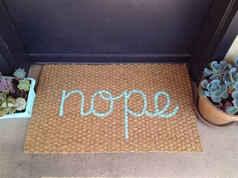 nope doormat  design   doormat  door