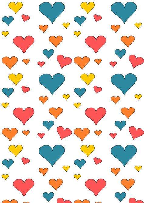 Free Printable Wrapping Paper Pinterest | free printable heart pattern paper cute heart