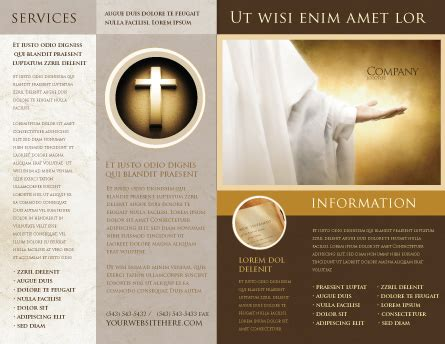 St Family Religion Brochure Template Design And Layout Download Now 04579 Poweredtemplate Com Free Religious Brochure Templates