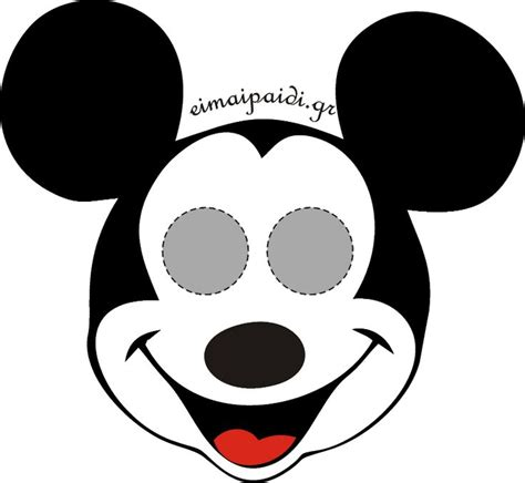 mouse mask template printable μάσκα mickey printables printable masks
