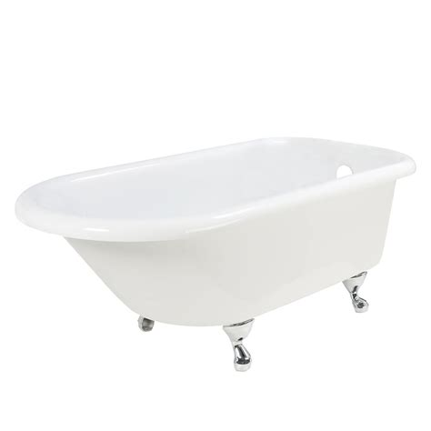 discount clawfoot bathtubs tudor 5 5 foot clawfoot tub with brushed nickel legs