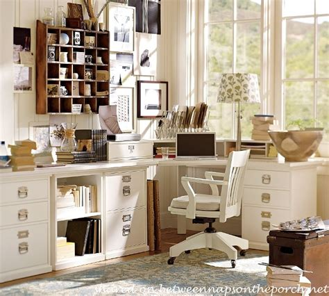 Pottery Barn Office Desk How To Design An Office With Pottery Barn Bedford Furniture And A Laser All In One Printer For