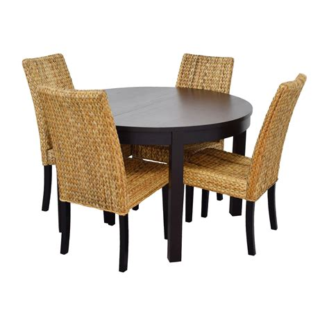 66 macy s ikea black dining table set with