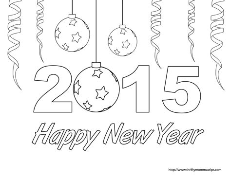 free printable coloring pages new years free printable happy new year coloring sheet new