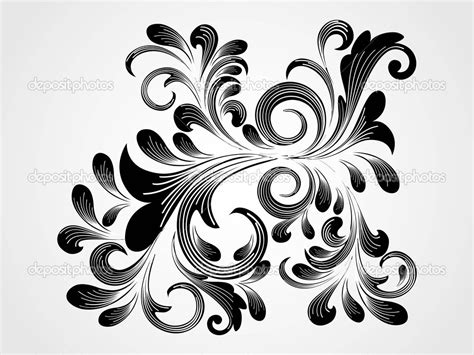 design background tattoo floral tattoo designs on a black background photo 3