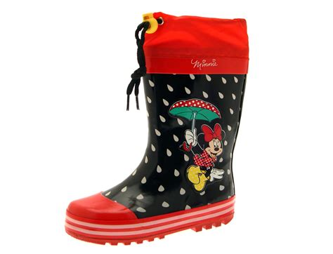 minnie mouse boots disney minnie mouse rubber snow boots wellies