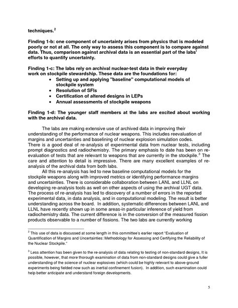 letter cancellation experiment letter report review of the doe national security labs