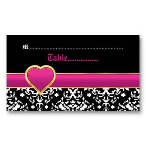 Black And Pink Business Card Template by 17 Best Images About Pink Place Cards On
