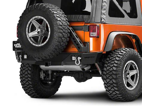 jeep rear bumper with tire carrier snyper jeep wrangler recoil rear bumper w tire carrier 59