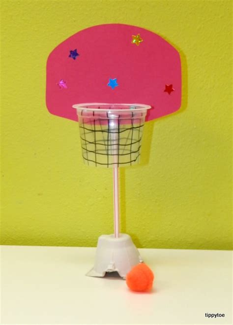 sports crafts for tippytoe crafts mini basketball hoop