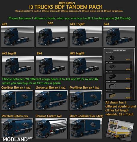 volvo v79 bdf tandem truck pack v 79 5 mod for ets 2