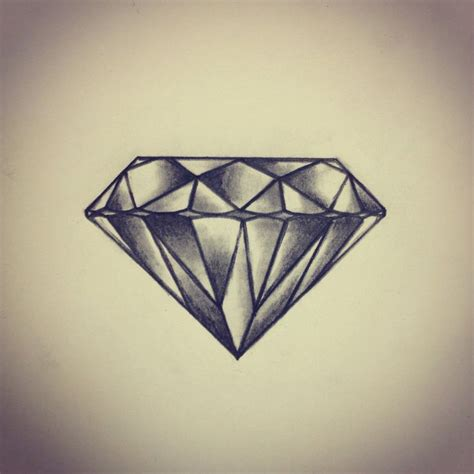 tattoo diamond black and grey 44 diamond tattoos designs and pictures collection