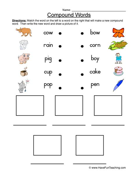 Compound Worksheets by Compound Words Worksheets For Preschool Compound Best