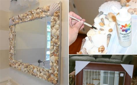 Seashell Bathroom Ideas Marvelous Diy Shell Mirror