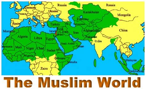 middle east map muslim countries june 2011 mysoa