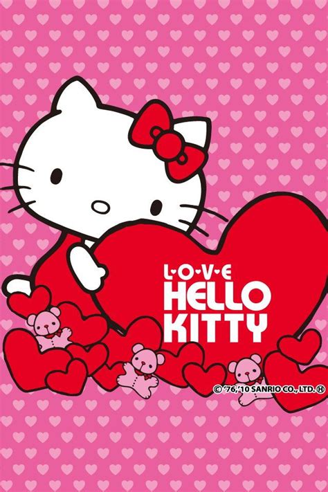 hello kitty hearts wallpaper sweet hellokitty heart hd wallpapers for iphone is a