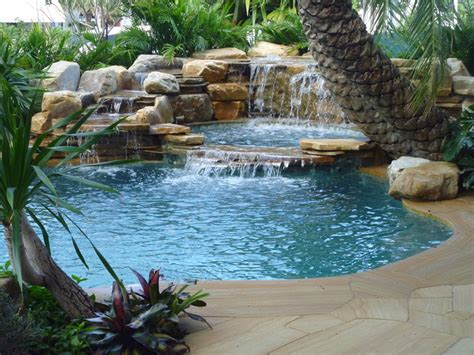 pool waterfalls 1000 images about pools spas on pinterest tropical