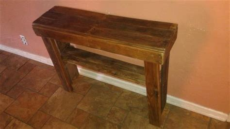 Pallet Console Table Woodenpallet Console Table Pallet Furniture Plans