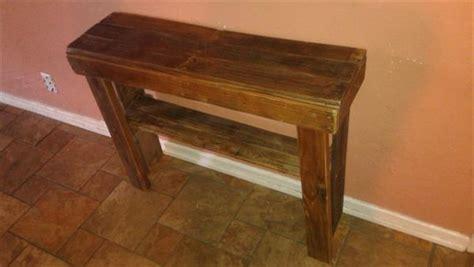Pallet Console Table Woodenpallet Console Table Pallet Furniture Plans