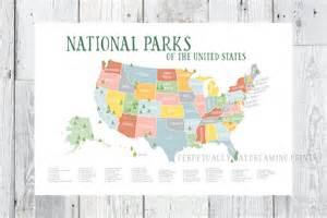america s national parks map printable explorer