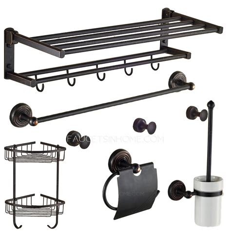 rubbed bronze bathroom accessory sets foldable black rubbed bronze 6 bathroom