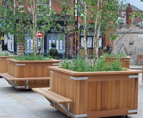 kensington timber tree planters design esi