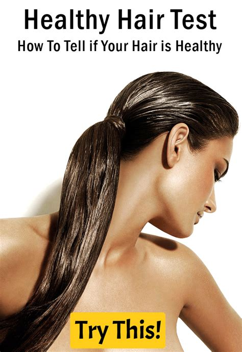 healthy hair tips healthy hair test how to tell if your hair is healthy