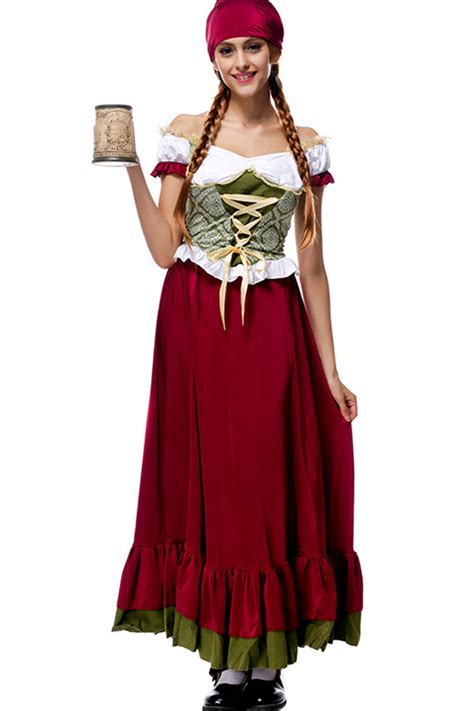 dark red german beer halloween costume   sexy